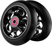 2Pcs Replacement 100 mm Pro Stunt Scooter Wheel with ABEC 9 Bearings Fit for MGP/Razor/Lucky Pro Scooters