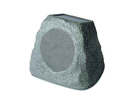 (ION Audio Solar Stone | Wireless Solar-Rechargeable Garden Speaker)