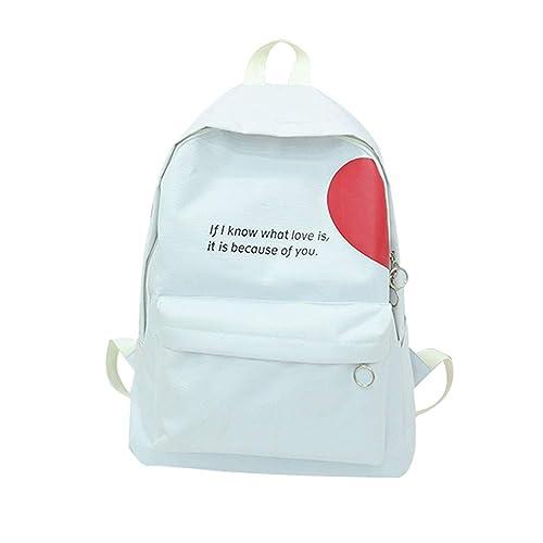 8b5a7ece80ea Amazon.com: AgrinTol Girlfriends Couple Canvas Letter Backpack ...