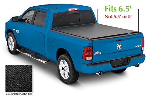 Lund 96864 Genesis Elite Roll Up Truck Bed Tonneau Cover for 2002-2018 Dodge Ram 1500; 2003-2018 Ram 2500, 3500 | Fits 6.5' Bed (Excludes Models w/RamBox) - Lund Soft Roll