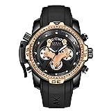 BREAK Watches for Men Sports Chronograph Waterproof Analog Quartz Watch Top Luxury Brand Casual Big Face Wristwatch