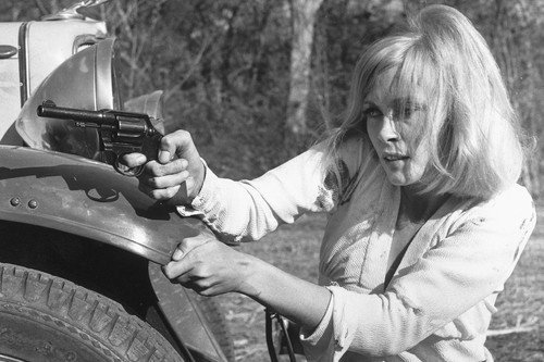 Faye Dunaway Bonnie and Clyde B&w 11x17 Mini Poster With Gun at