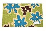 Home Garden Hardware 39117 Green Brown Printed Coir Doormat,Natural,Small