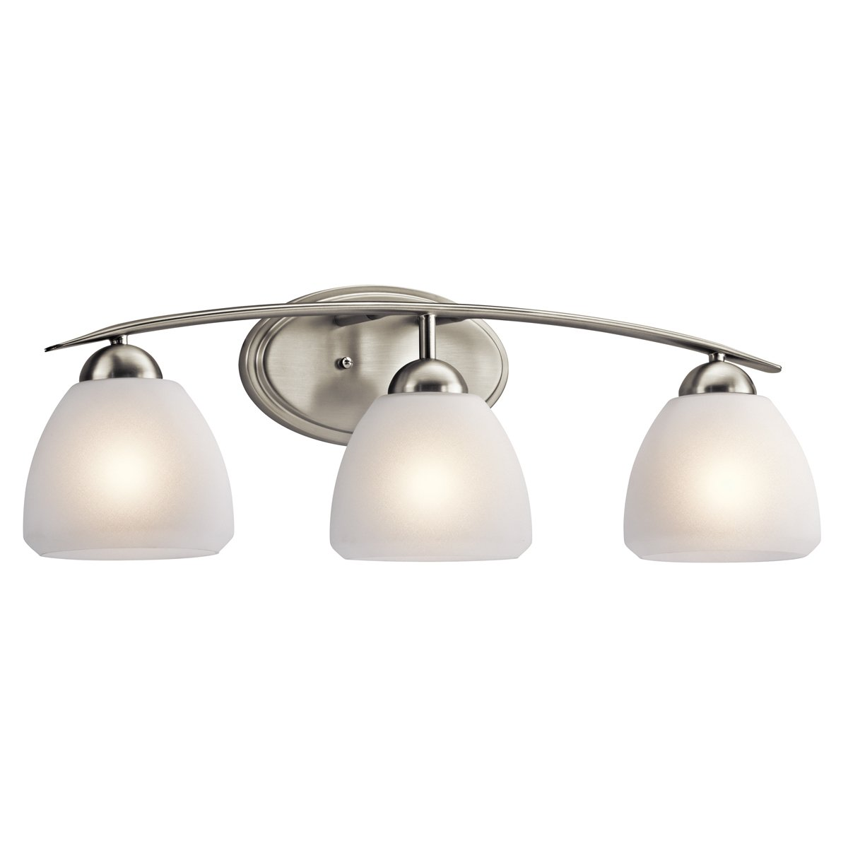 Charming Kichler Lighting 45119NI Calleigh 3LT Vanity Fixture, Brushed Nickel Finish  With Satin Etched Cased Opal Glass   Bathroom Light Fixtures   Amazon.com