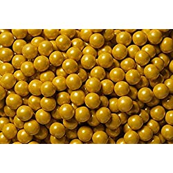 FirstChoiceCandy Sixlets Milk Chocolate Balls (Shimmer Gold, 2 LB)