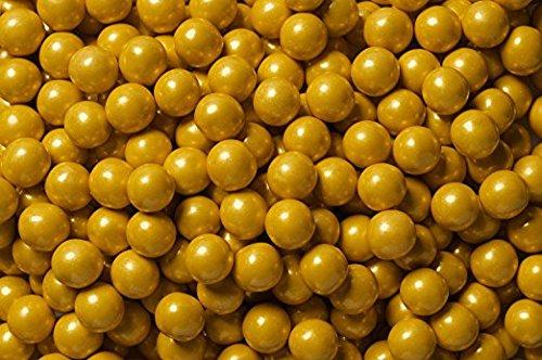 FirstChoiceCandy Sixlets Milk Chocolate Balls (Shimmer Gold, 2 LB)