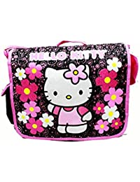 Messenger Bag - Hello Kitty - Flowers Black