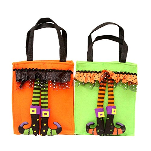 Price comparison product image Shybuy Halloween Pumpkin Cute Witch Sugar Bag Children Party Storage Bag Gift for Child Kids Halloween Holiday Party (B)