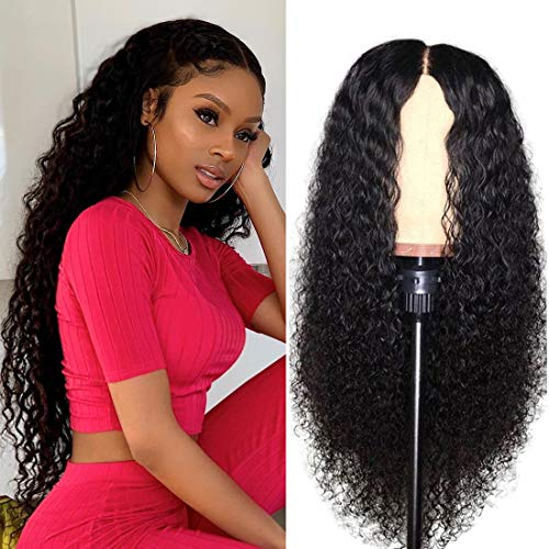 (Nadula Brazilian Curly Virgin Human Hair 13×6 Lace Front Wigs For Women 100% Unprocessed Virgin Curly Human Hair Wig 150% Density With Baby Hair (18inch))