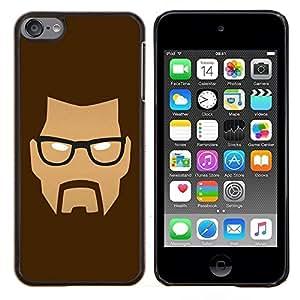 For Apple iPod Touch 6 6th Touch6 Case , Cara enojada- Diseño Patrón Teléfono Caso Cubierta Case Bumper Duro Protección Case Cover Funda