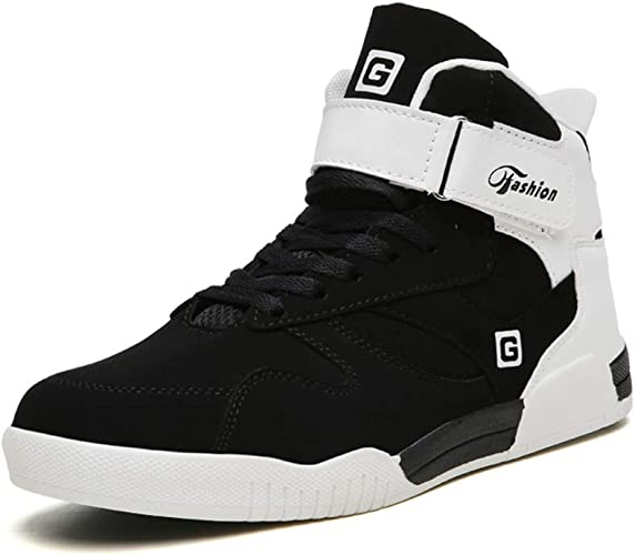 Leader Show Men's Athietic Lace Up Sneaker Fashion High Top Running Shoes