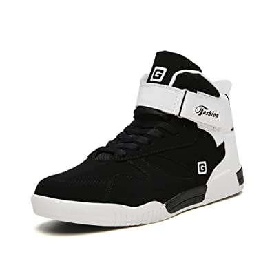 2fdbd87243a22 Leader Show Men's Athietic Lace Up Sneaker Fashion High Top Running Shoes