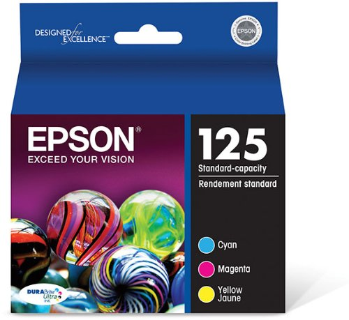 Epson (125) Stylus Nx125/127/130/230/420/530/625/Workforce 320/323/325/520 Durabrite Ultra Color Ink Combo Pack (Includes 1 Each Of Oem# T125220 T125320 T125420) (3 X 335 Yield)