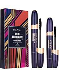 4D Silk Fiber Lash Mascara & Fiber 2-in-1 Set, 3D Effect...