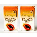Swiss Soft N White Papaya Herbal Lightening Soap 7 oz 200g blanchir la peau Spots (pack de 2)
