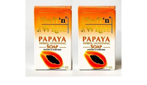Swiss Soft n White Papaya Herbal Lightening Soap 7 oz 200 G blanchir ...
