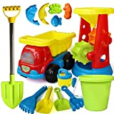 VGHJK Children's Beach Toy Set Car Boy And Girl Play Trickle Barrel Baby Digging Sand Shovel Shovel Playing Sand Toy Bath Toys (random Colors),G