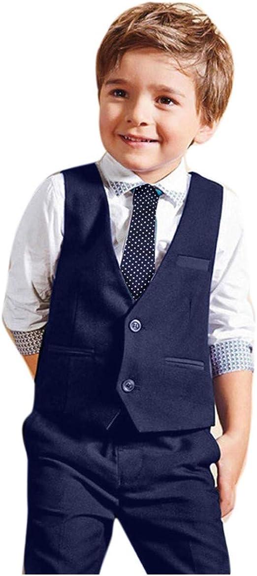 Kinder Baby Jungen Gentleman Hemd Hosen Denim Bogen Outfit Partyanzug Neu