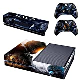Halo 5-Generic Full Body Screen Protector VinylSkin Decal For Xbox one Console and 2PCS Xbox one Controller Skins Stickers video game