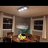 Yue Jia Modern Ceiling Lighting Crystal Chandelier LED Lighting Fixture Pendant Lamp 3 GU10 Bulb Included For Sale