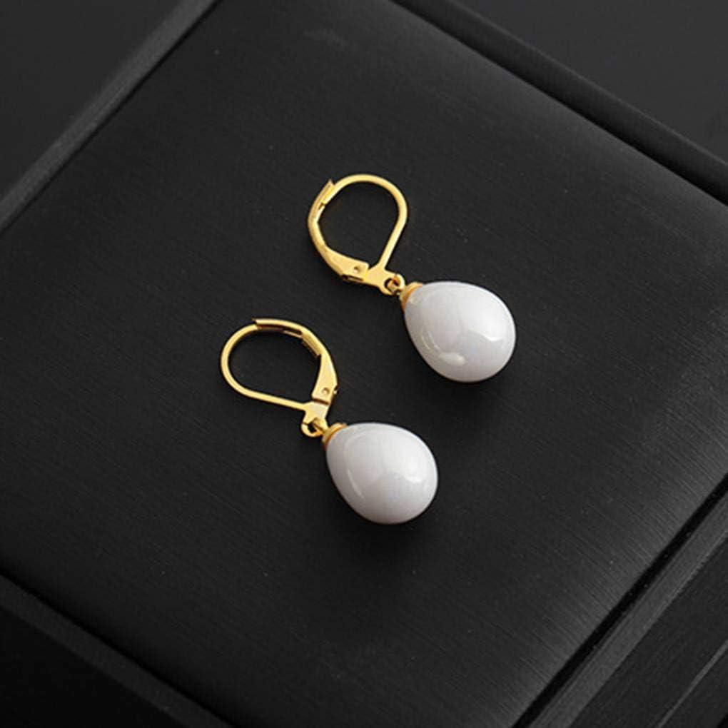 Bobury Femmes Waterdrop Boucles doreilles Perles Bijoux de mari/ée Oreille Dangle Engagement d/écoration de Mariage