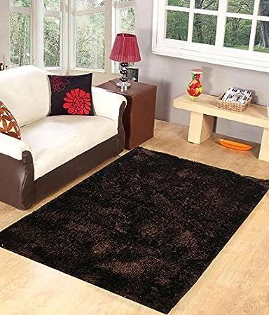 Homefab India Designer Coffee Fur Floor Carpet90X150 Cms