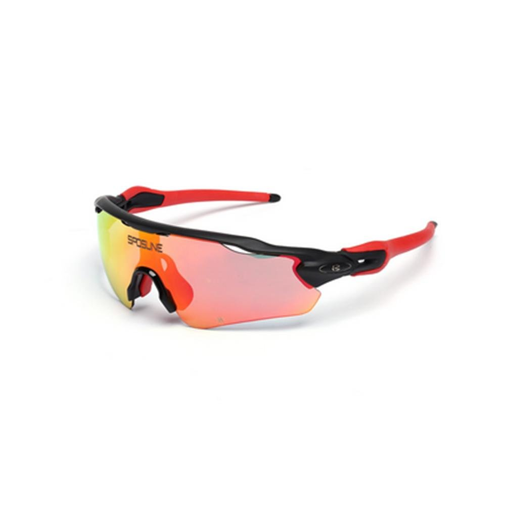 DZW Reiten im Freien Sonne polarisierte Brille Brille Sport Wind Sand Spiegel Myopie Berg Autospiegel , schwarz and ROT