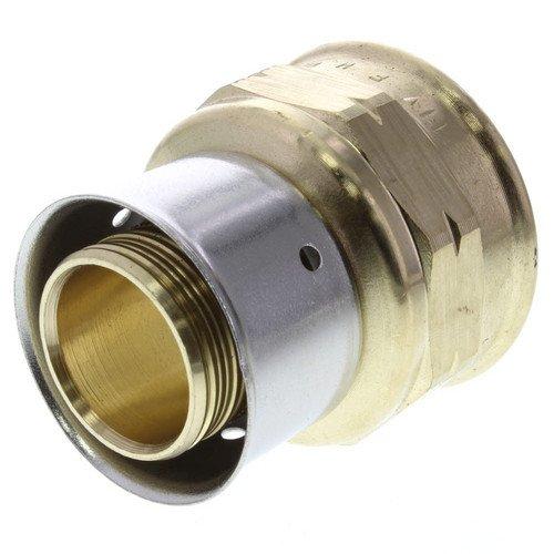 Zero Lead Bronze 1inch PEX Press x 1inch F NPT Adapter whit Attached Sleeve