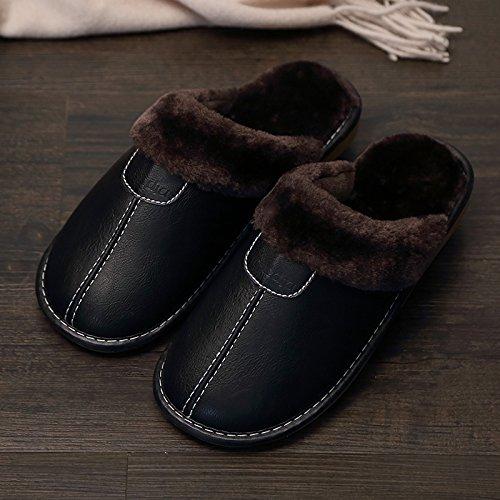 Chaussures chaleureux Chaussons chaud au LaxBa l'hiver accueil Chaussons nbsp;L'hiver noir moelleux l'hiver antiglisse Chaussons Mâle de Maison 8ATwOqw