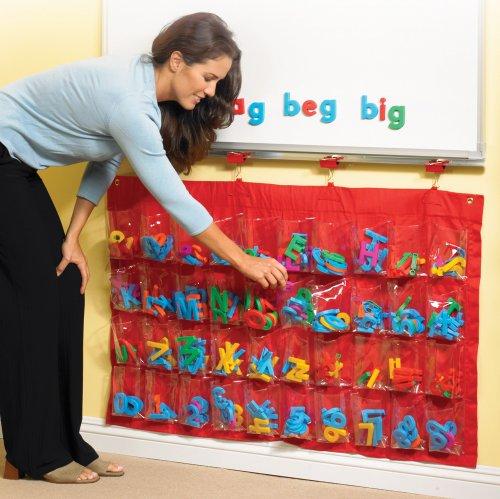Educational Insights Teachers Pocket - Hanging Magnetic Pocket Chart