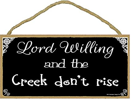 Amazoncom Southern Lord Willing And The Creek Dont Rise Black