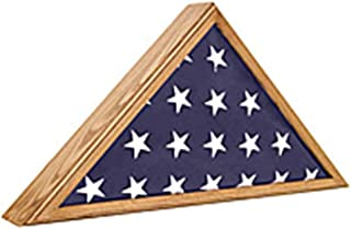 product image for Veteran Oak Flag Case, Military Flag Display Cases Appalachian Hardwood