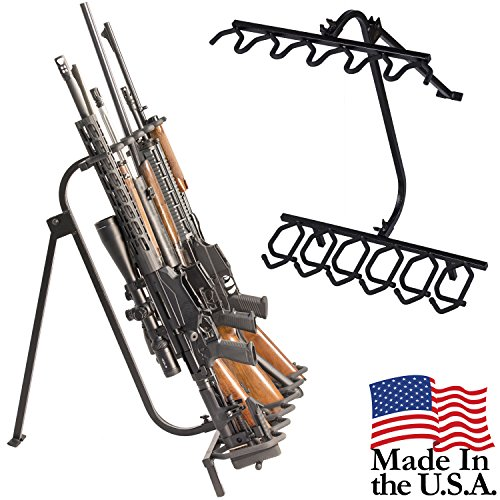 Hold Up Displays Portable Gun Rack and Bow Holder - Tactical Freestanding Folding Firearm Stand Holds any Rifle or Bow - Keeps Guns Organized at the Shooting Range - Made in USA with Heavy Duty Steel Freestanding Serving Cart