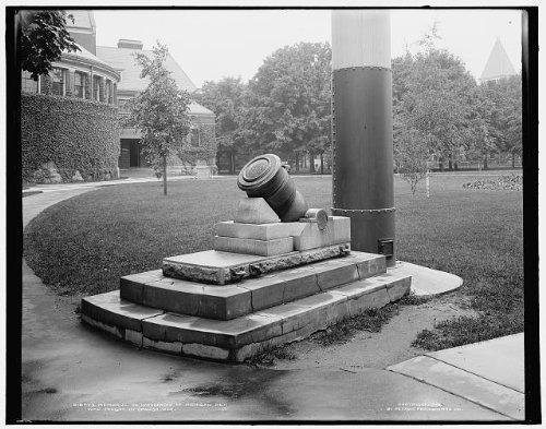 Photo: Memorial,University,Michigan men,Spanish war,colleges,cannon,Ann - Arbor Mi Shopping Ann