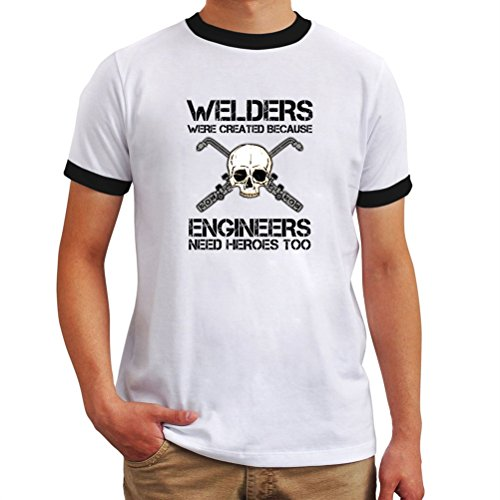 ギネス自宅で軽蔑するWelders were created because engineers need heroes too リンガー Tシャツ