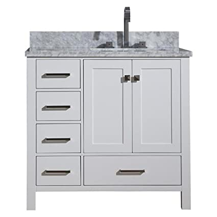 dkb 37 inch beckford series right offset rectangular single sink rh amazon com left offset bathroom vanity top left offset bathroom vanity top