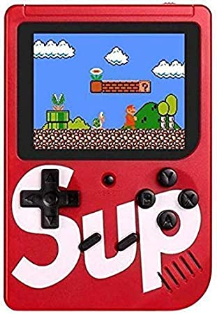 Gadget Walker SUP 400 in 1 Retro Game Box Console Handheld Game PAD Box with TV Output Gaming Console 8 GB with Mario/Super Mario/DR Mario/Contra/Turtles and Other 400 Games (Red)