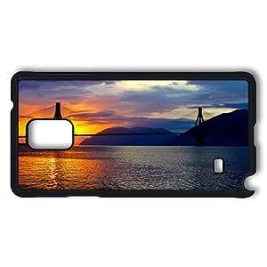 Samsung Galaxy Note 4 Case, Beautiful Bridge PC Case Cover Protector for Samsung Galaxy Note 4 Hard Plastic Black