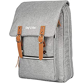 Chef Knife Bag Vintage Backpack   30+ Pockets for Knives & Kitchen Utensils Tools   Large Pockets for Tablets & Notebooks   Great Gift for Executive Chefs & Culinary Students (Heather Grey)