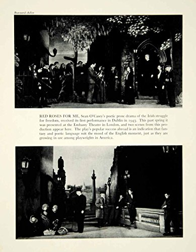 1946 Publish Red Roses for Me Sean O'Casey Play Embassy Theatre London Stage YTA3 - Original Halftone Print