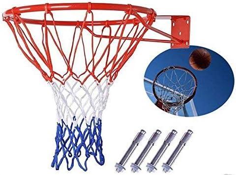 Shenghuajie Canasta de Baloncesto Red Anillo Soporte Pared Exterior Colgante Cesta 18 45cm