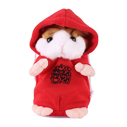 - Mimicry Pet Talking Hamster Plush Toy Repeat What You Say Electronic Hamster Mouse Interactive Plush Animal Toy Sound Record Speaking Plush Toy Early Learning for Boy Girl Gift ( Red)