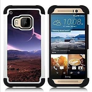 BullDog Case - FOR/HTC ONE M9 / - / Space Planet Galaxy Stars 20 /- H??brido Heavy Duty caja del tel??fono protector din??mico - silicona suave