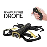ATTOP RC Quadcopter Drone FPV RC Drone with Camera Live Video and GPS Return Home Quadcopter with Gravity Sensor Mode and Adjustable Wide-Angle 720P HD WIFI Camera