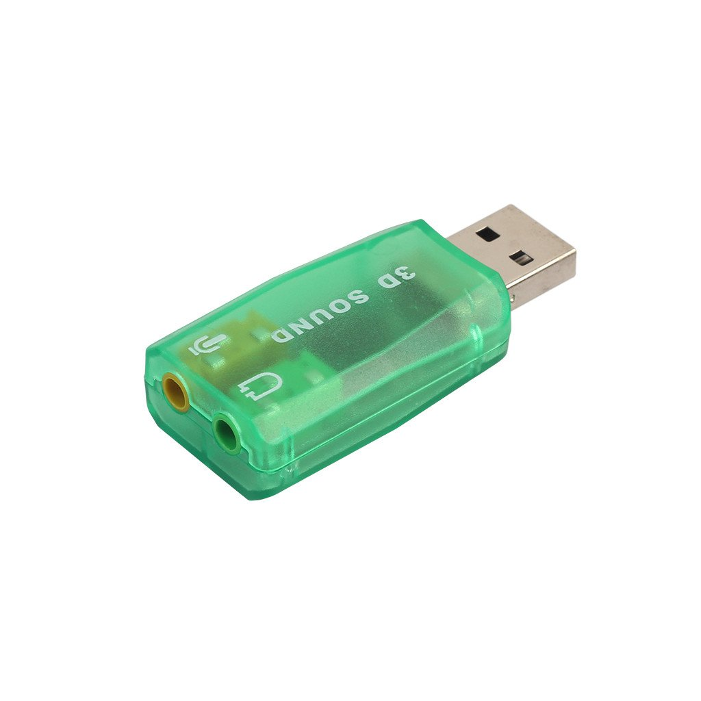 Banstore USB Audio Adapter with 3.5mm Stereo Headphone 3D Sound card 5.1 USB Stereo Headset