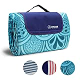ZOMAKE Large Picnic Blanket Tote Waterproof and Soft for Family Concerts,Park(200x200)