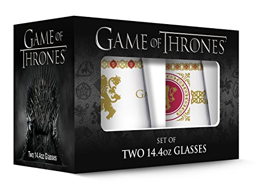 Game of Thrones Lannister Stemless Wine Glass with Gold Rim (Set of (Novelty Drinking Glasses)