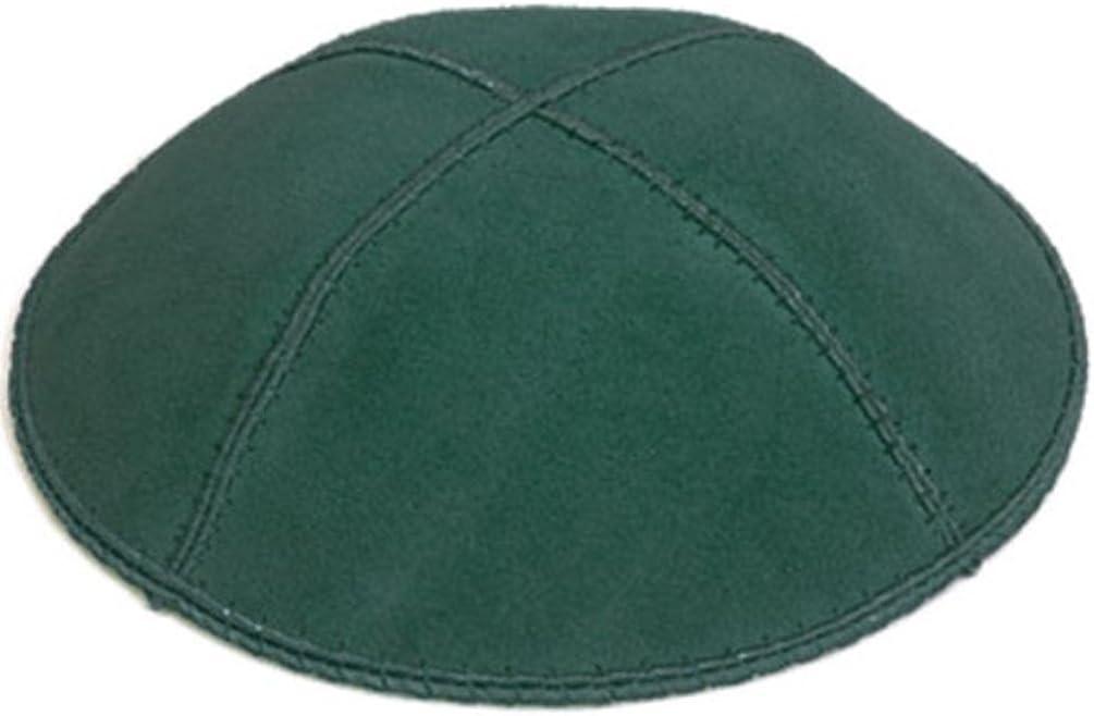 A1 Skullcap Suede Fabric Kippot Single or Bulk Kippah Optional Custom Imprinting Inside for Your Speacial Event /… Forest Green