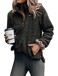 BeneGreat Womens Zip Neck Pullover Coat Sweatshirts Outwear with Pockets