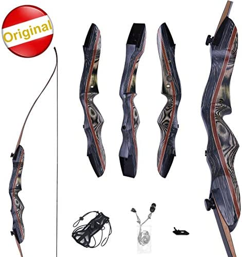 Knight Traditional KTA Sports WASP Takedown Recurve Bow 62 Hunting Bow – Draw Weights in 20-60 lbs – Wooden Bow for Beginner to Intermediate User